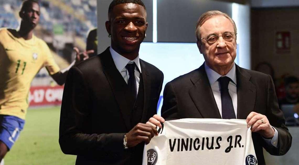 Vinicius Junior foi apresentado oficialmente no Real Madrid nesta sexta-feira