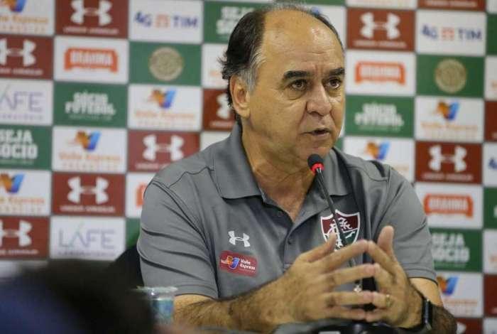 Marcelo Oliveira fala sobre partida de estreia à frente do Fluminense