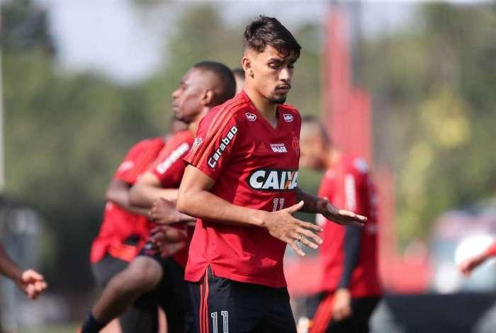 Paquetá, meia do Flamengo, treina no Ninho do Urubu: objetivo é abrir vantagem