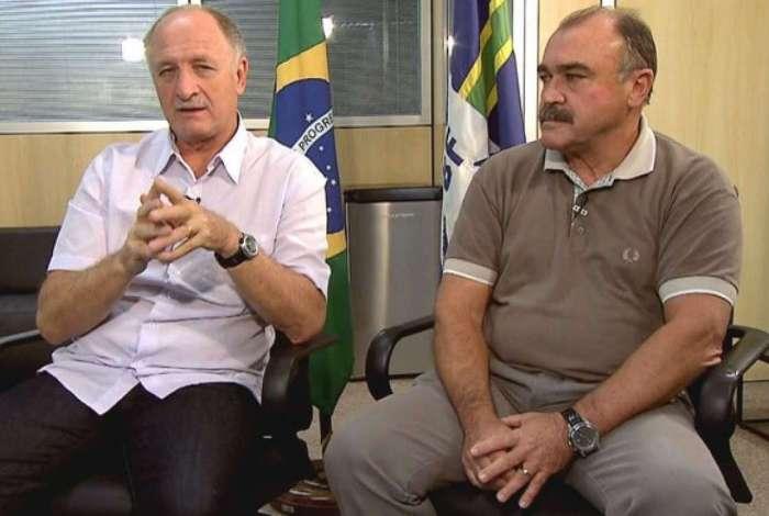 Felipão e Murtosa: parceria campeã não deve seguir no Palmeiras