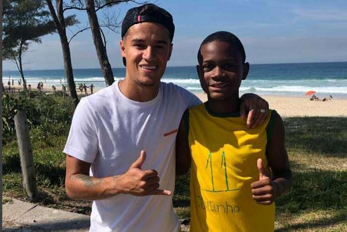 Philippe Coutinho e Wallace Rocha