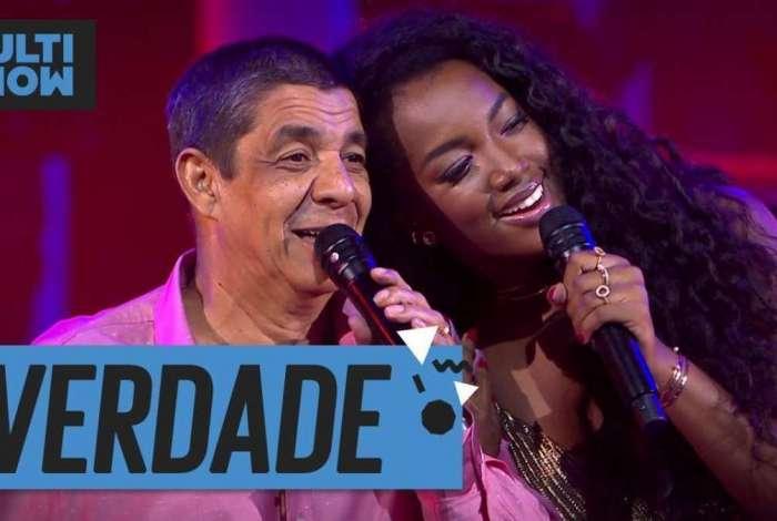 Iza e Zeca Pagodinho no 'Música Boa Ao Vivo'