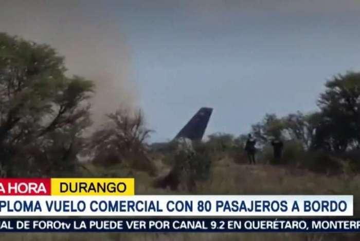 Avião sofreu acidente após decolagem no México