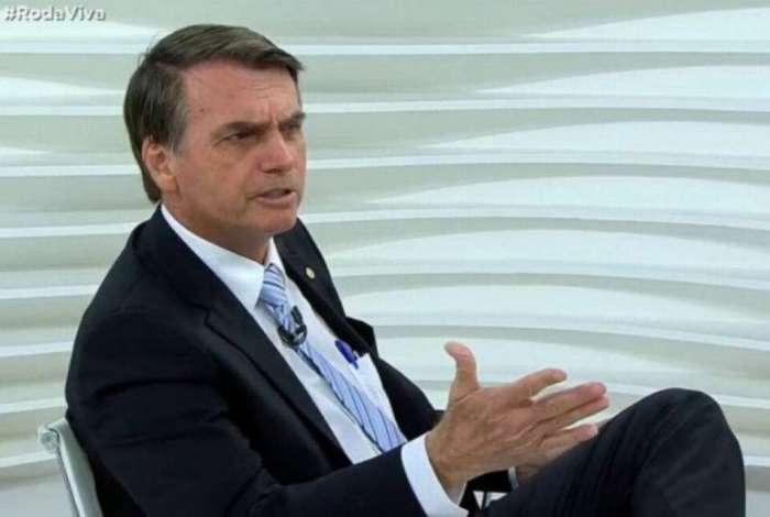 62a20493a9 Jair Bolsonaro no  Roda Viva