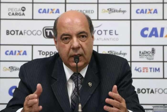 O presidente do Botafogo, Nelson Mufarrej