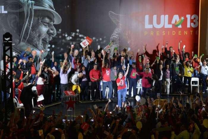 Convenção Nacional do PT para lançamento da candidatura de Lula para presidente, na Casa de Portugal