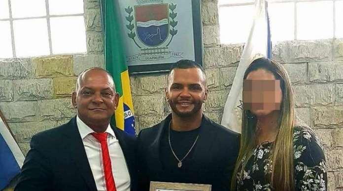 Vereador Nelcir da Laje (� esquerda) � pai de Dheiverson, indiciado por homic�dio doloso com dolo eventual