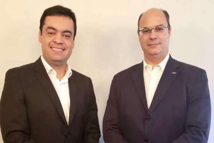 Cláudio Castro (à esquerda) foi anunciado pelo PSC-RJ como vice na chapa de Wilson Witzel ao Governo do Estado