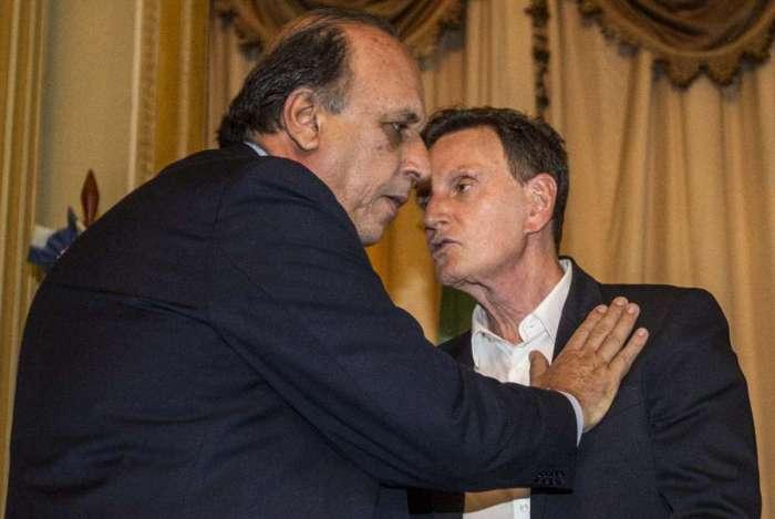 Governador Pezão e prefeito do Rio, Marcelo Crivella