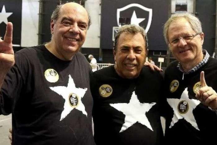 Montenegro ao lado de Nelson Mufarrej e Carlos Eduardo Pereira
