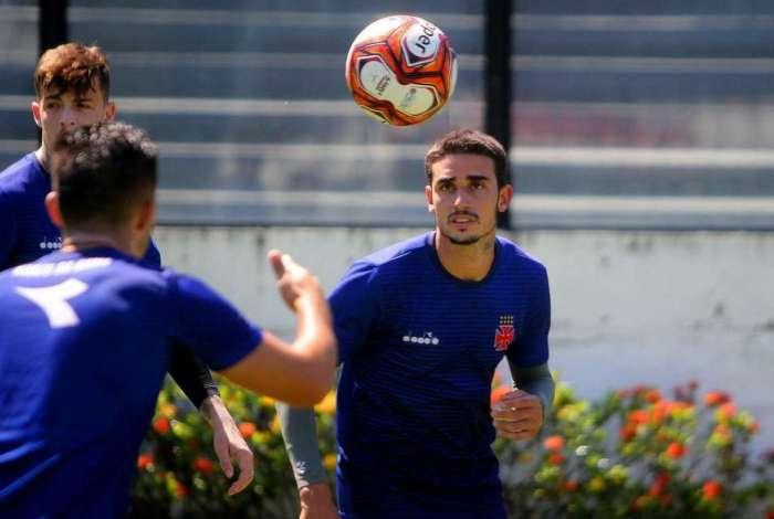 Thiago Galhardo em treino do Vasco