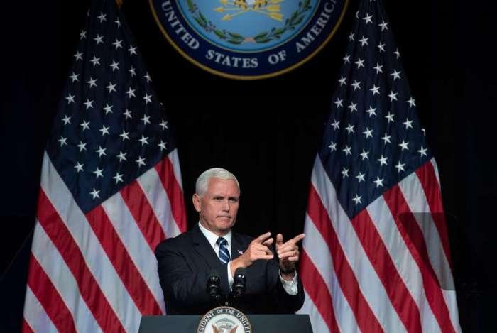 'Chegou o momento de escrever o próximo grande capítulo da história de nossas forças armadas, de se preparar para o próximo campo de batalha', anunciou o vice-presidente, Mike Pence