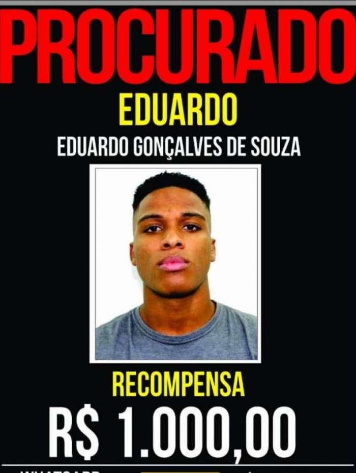 Eduardo Gonçalves de Souza é procurado pela polícia desde o fim de semana