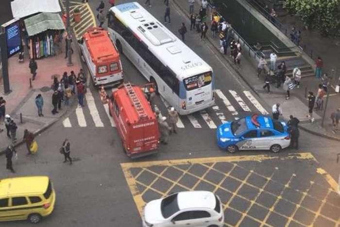 Idosa foi atropelada por ônibus na Tijuca