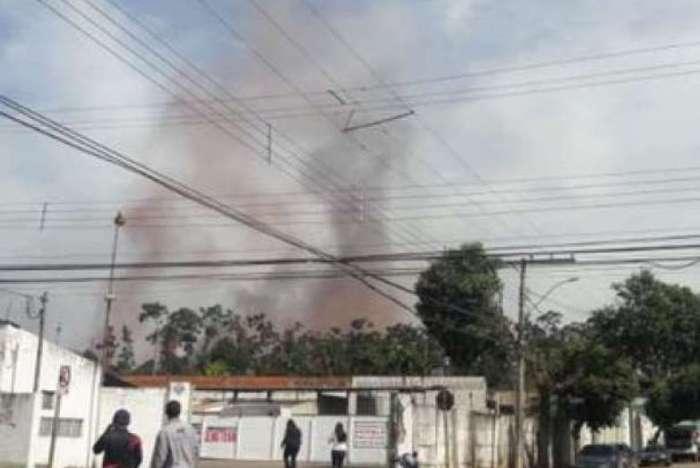 Explosão em um gasômetro da Usina de Ipatinga, em Minas Gerais