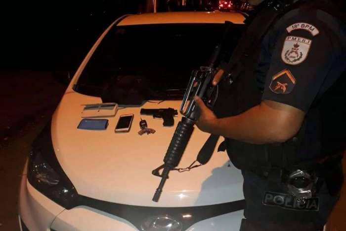 Ladrões foram encontrados a cerca de 3 km do local do crime