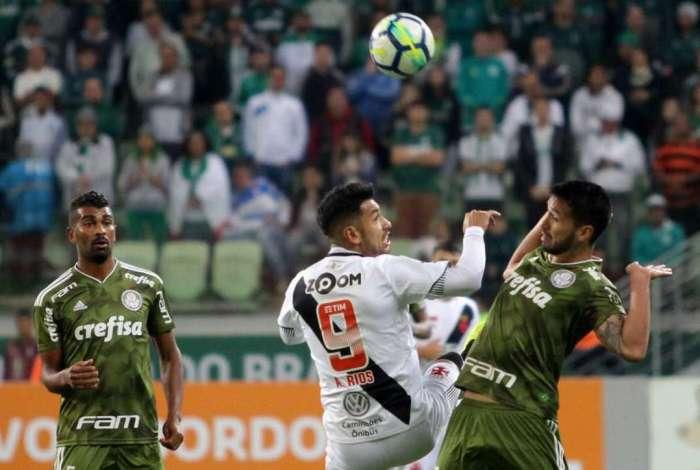 Vasco foi derrotado pelo Palmeiras por 1 a 0