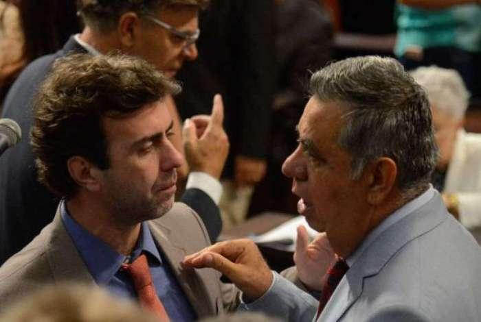 Caso Marielle: Jorge Picciani (direita) processará Marcelo Freixo