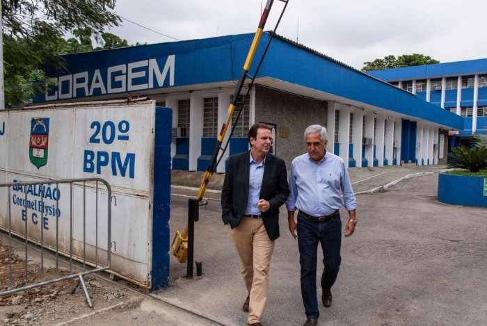 Eduardo Paes (DEM) se reuniu com a cúpula da polícia