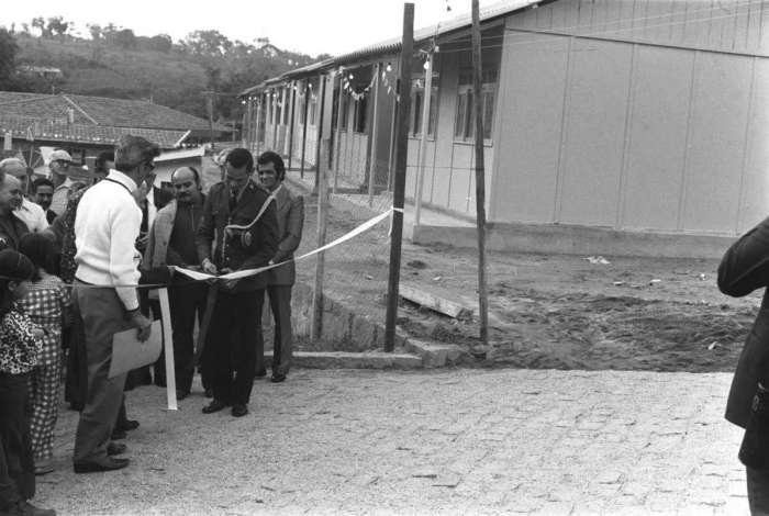Inauguração das casas para os Artistas