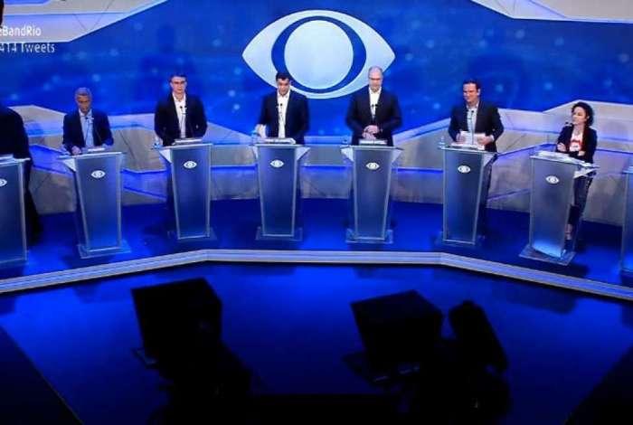 Debate entre candidatos ao governo do Rio na TV Bandeirantes