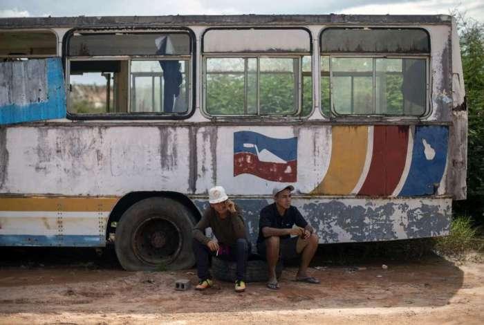 Refugiados venezuelanos em Pacaraima, em agosto deste ano