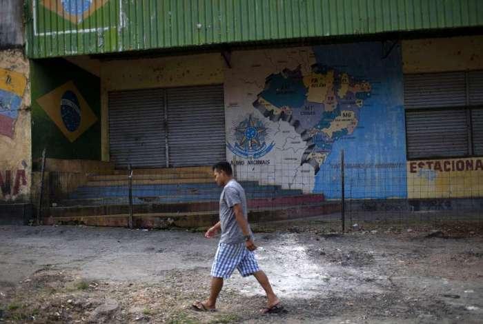 Ruas desertas em Pacaraima após os conflitos com refugiados venezuelanos