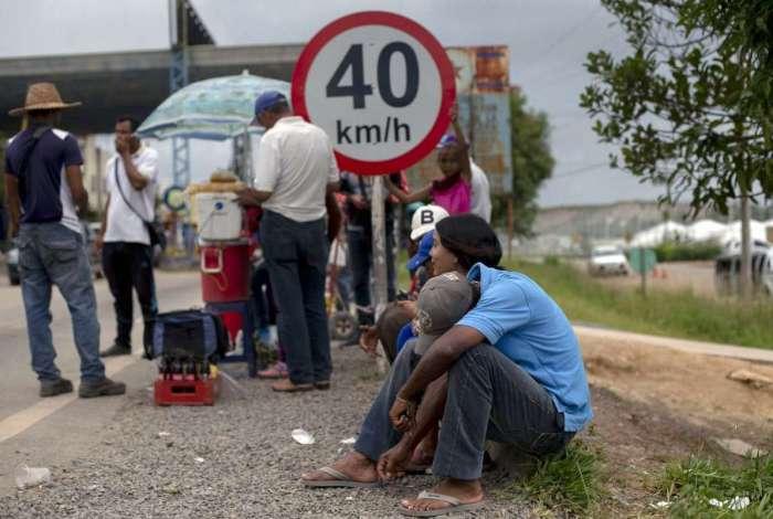 Refugiados venezuelanos na fronteira