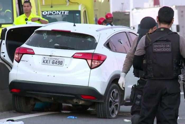 Perseguição seguida de tiroteio deixou mortos na Ponte Rio-Niterói