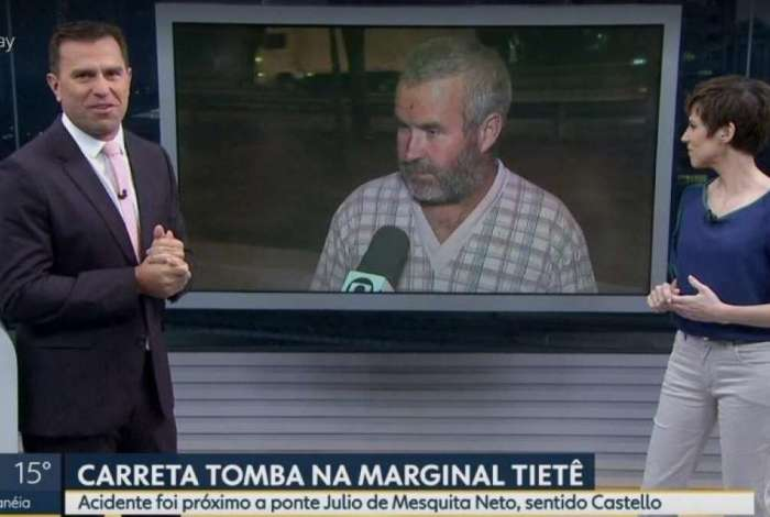 Rodrigo Bocardi se espanta ao ver repórter chamar um homem de 45 anos de 'senhorzinho'