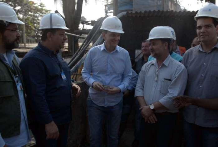 Crivella acionou detonação de trecho final da obra de desvio do Rio Joana. Objetivo é concluir túnel que vai evitar enchentes na Grande Tijuca