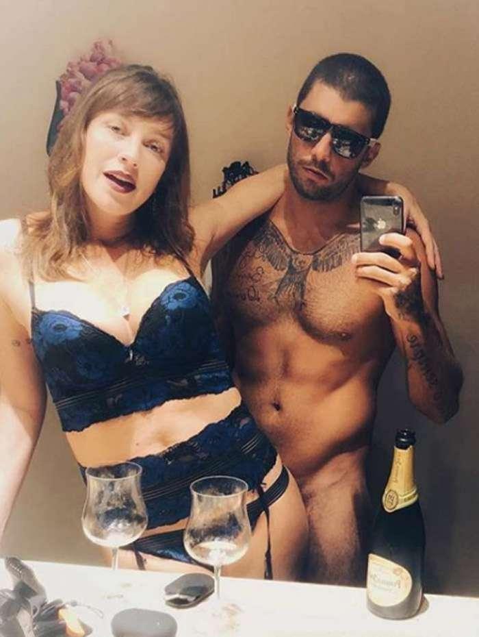 Luana Piovani e Pedro Scooby fazem 'festinha no céu'