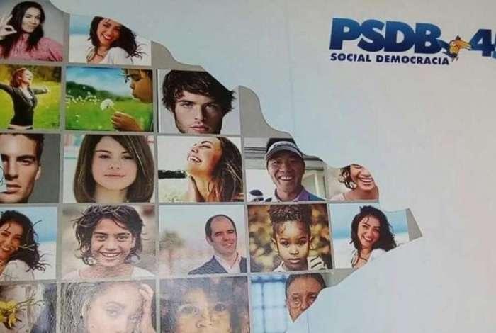 Painel do PSDB tem foto de Selena Gomez e de youtuber