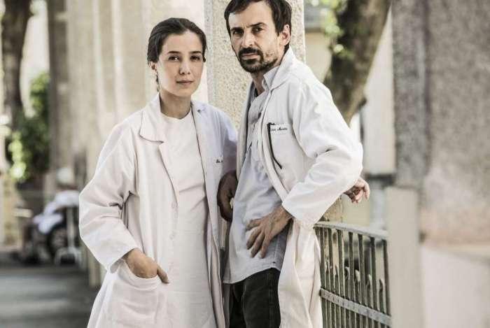 Marjorie Estiano e Julio Andrade em 'Sob Pressão'