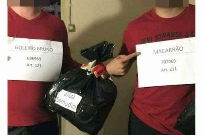 Estudantes do Instituto Federal do Sul de Minas em Inconfidentes (MG) se fantasiaram de goleiro Bruno e Macarrão