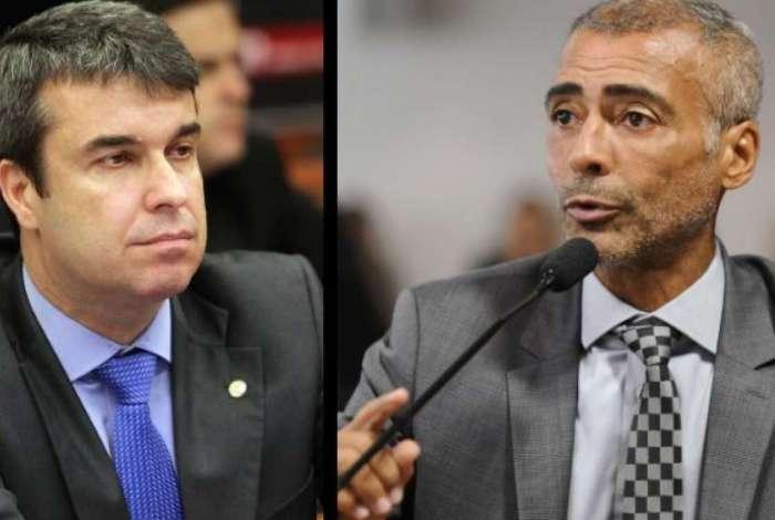 Rodrigo Bethlem e Romário: divergência na condução da campanha ao governo do Rio