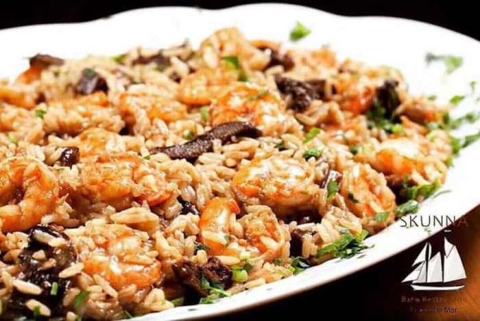 Invasão de Sabores - Restaurante Skunna: risoto camarão