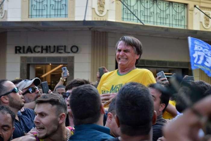 Facada no então presidenciável Jair Bolsonaro aconteceu em um comício em Juiz de Fora durante as eleições de 2018