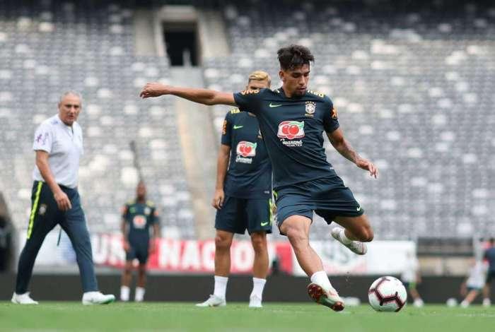Atacante Lucas Paquetá está com a seleção brasileira na série de amistosos nos Estados Unidos