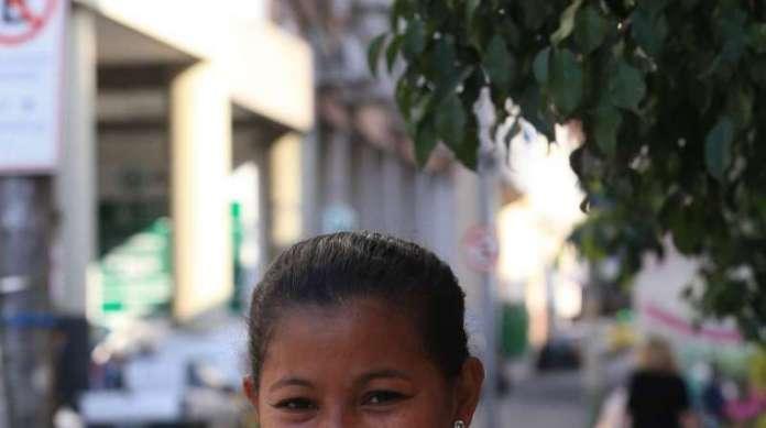 MARCIETE MARIA, 32 anos, auxiliar de serviços gerais, mora em Bom Jardim