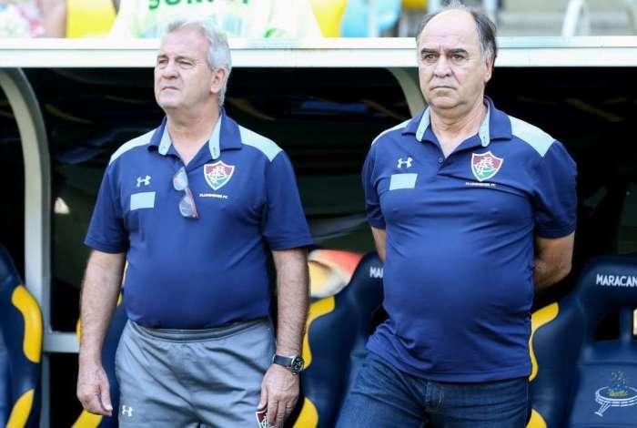 Técnico do Fluminense,  Marcelo Oliveira, no clássico contra o Botafogo