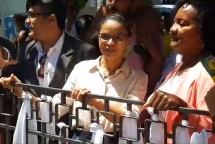 Candidata à Presidência, Marina Silva faz campanha no bairro da Liberdade, em Salvador