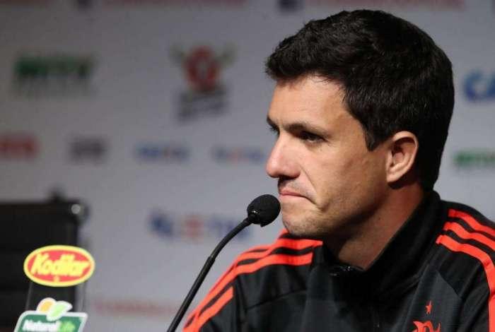 Técnico do Flamengo, Mauricio Barbieri participa de coletiva no Ninho do Urubu