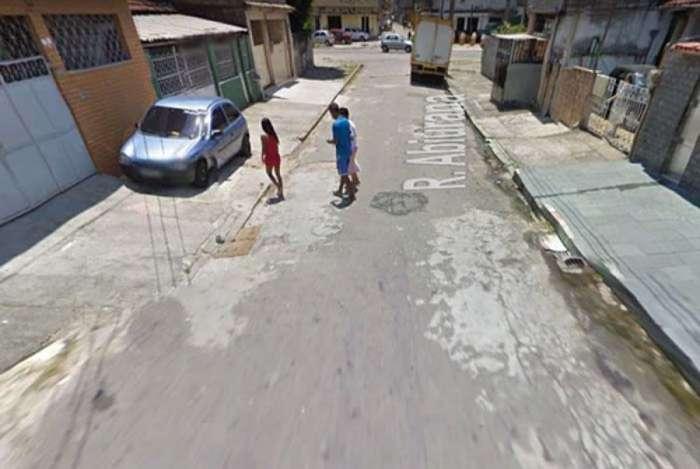 Rua Abiurana, local em que o chefe de posto do Detran foi morto