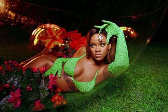 Rihanna 'esconde' a barriga em foto e fãs especulam sobre possível gravidez