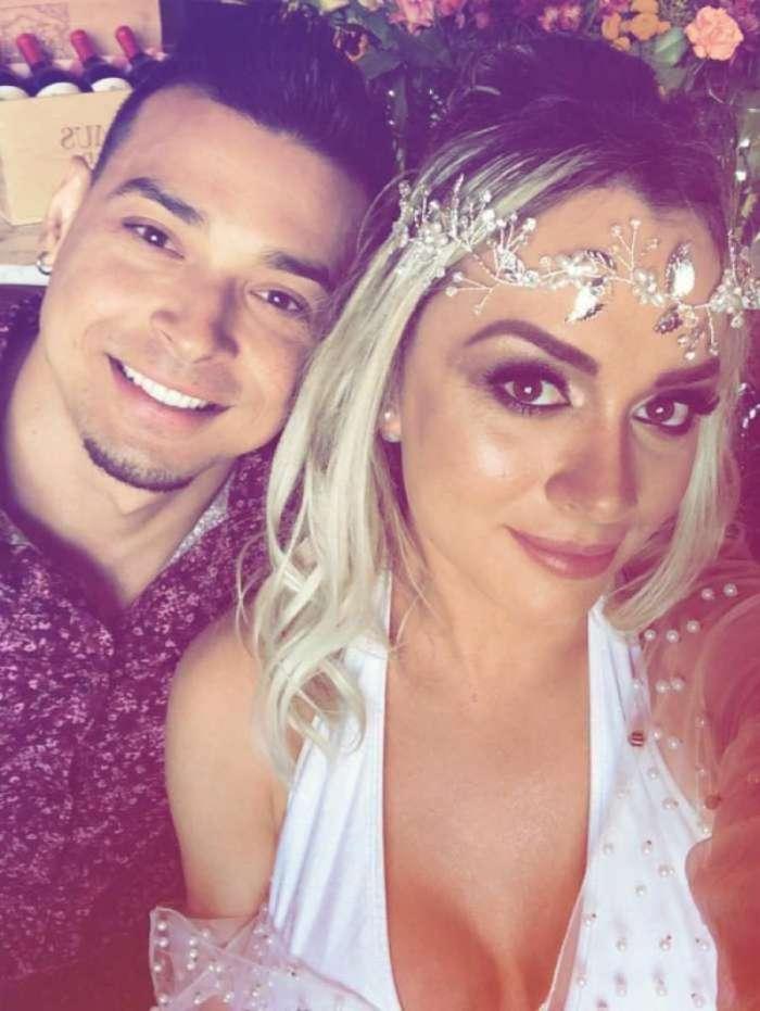 Juju Salimeni e Felipe Franco renovam votos de casamento
