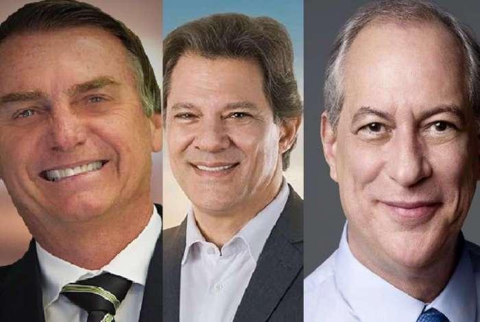 CNT/MDA: Bolsonaro tem 28,2%, Haddad tem 17,6% e Ciro, 10,8%