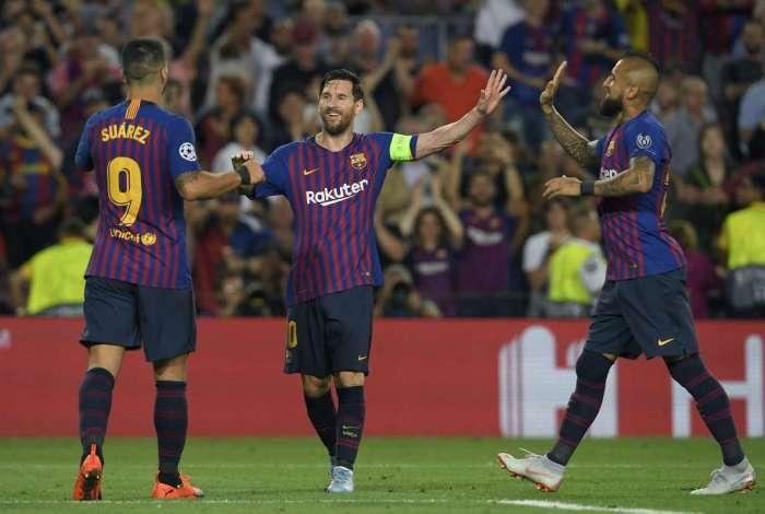 Barcelona goleou na estreia da Liga dos Campeões