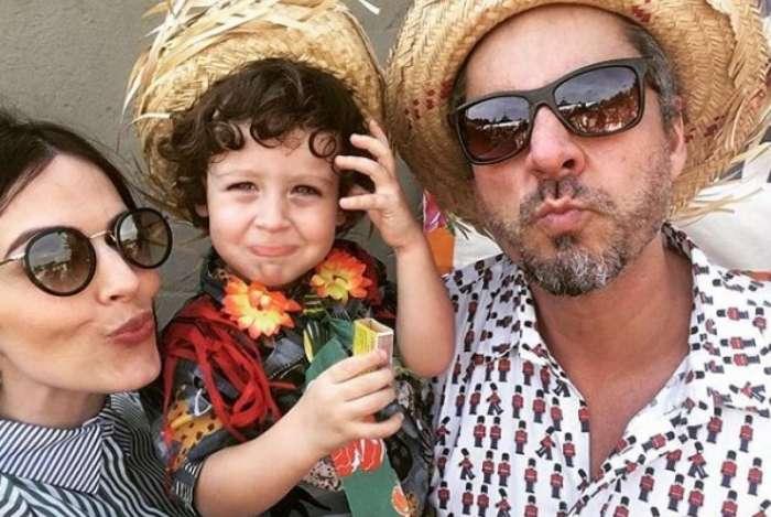 Alexandre Nero e família