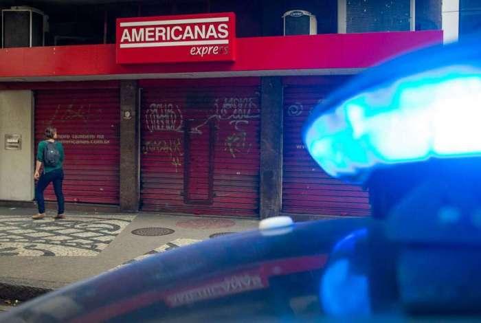Filial das Lojas  Americanas, na Rua Marquês de Abrantes, no bairro do Flamengo